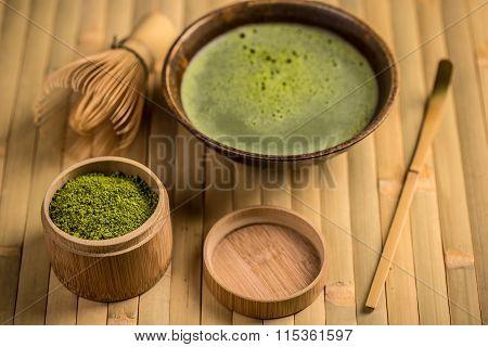 Green Tea In Bowl