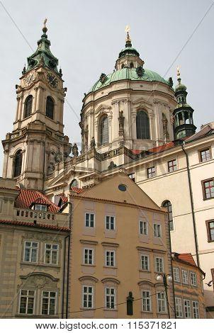 Prague, Czech Republic - April 16, 2010: St. Nicholas Church In Mala Strana Or Lesser Side, Beautifu