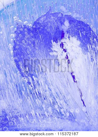 Organic Abstraction Blue Ice