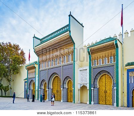 Royal Palace In Fez, Morocco. North Africa.