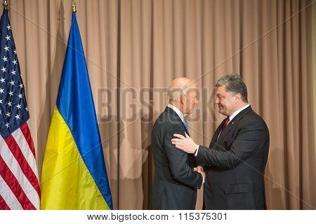 Petro Poroshenko And Joseph Biden