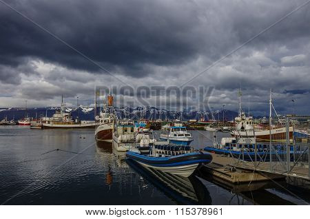 Husavik, Iceland - August 25, 2014: Husavik Is A Town On The North Coast Of Iceland On The Shores Of