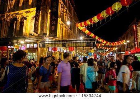 Singapore Landmark Chinatown During Chinese New Year