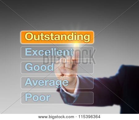 Hand Selecting Outstanding By Touch
