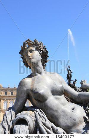 goddess statue at Herrenchiemsee palace