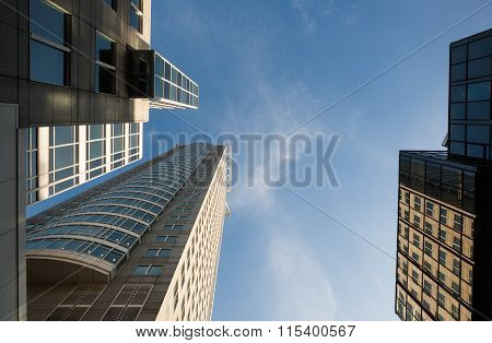 Low Angle View Of Buildings In Frankfurt Germany