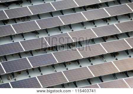 Solar power panel on roof top
