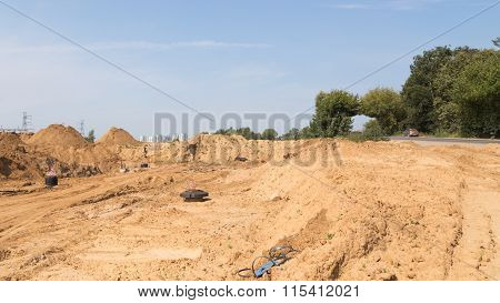 Construction Site In The Moscow Region