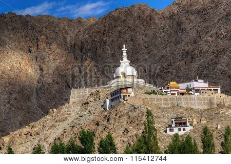 Shanti Stupa, Leh, Ladakh, Jammu And Kashmir, India