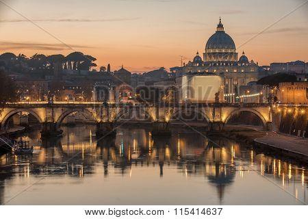 Rome, Italy: St. Peter's Basilica, Saint Angelo Bridger