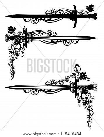 Sword Among Rose Flowers