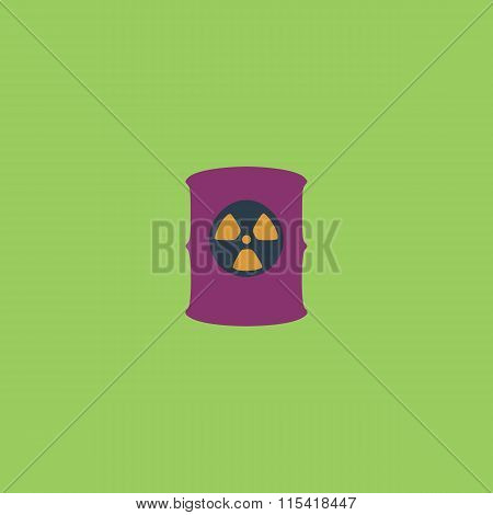 Container with radioactive waste. Colorful vector icon. Simple retro color modern illustration pictogram. Collection concept symbol for infographic project and logo