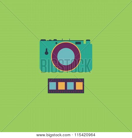 Photography camera and film icon