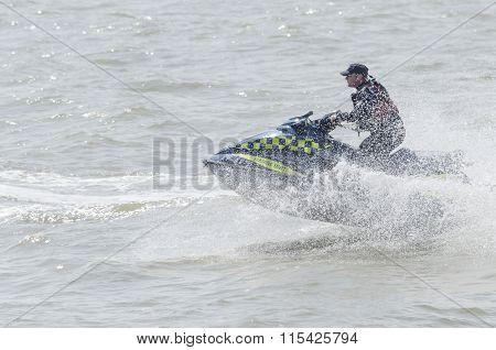police on a jet ski.