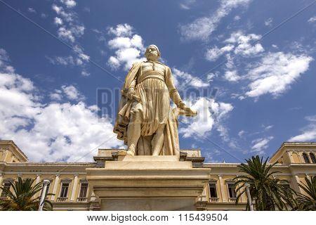 Landmark statue at Ermoupolis, Syros