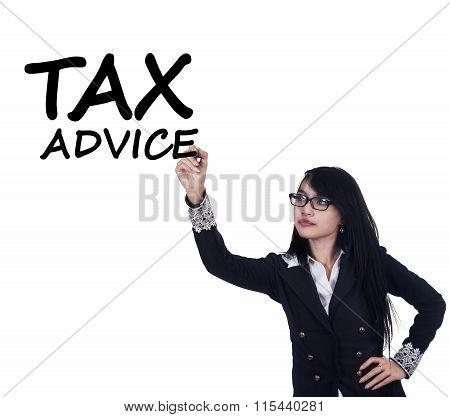Pretty Female Tax Consultant