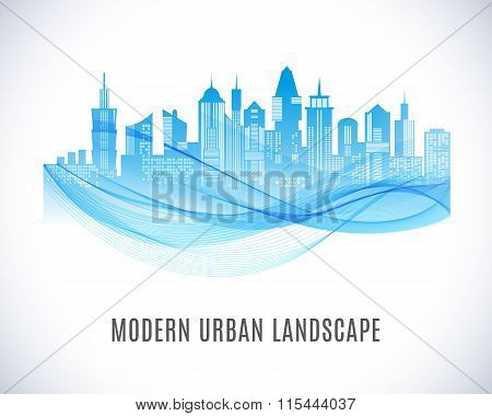 City urban design. Abstract landscape.