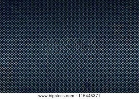 Blue Metallic Mesh Background Texture