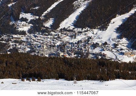 Mountains ski resort Bad Gastein - nature and architecture background