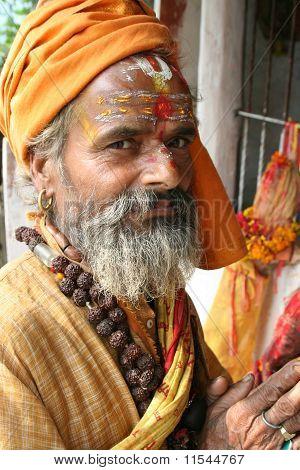 A Holy And Cheerful Sadhu