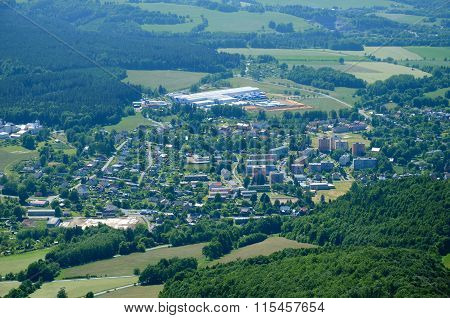 View of the Zlate Hory, Czech Republic