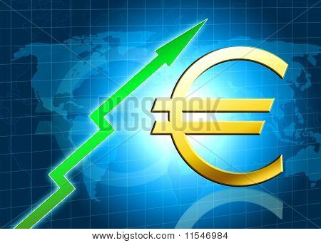 Euro Increasing Value Illustration