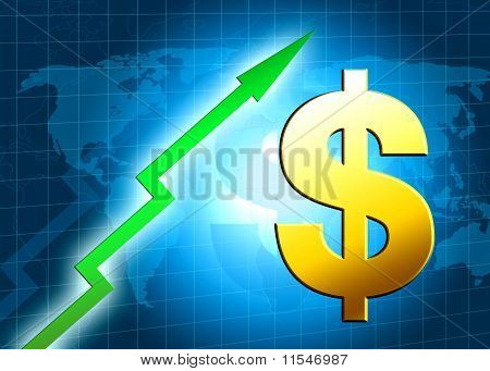 Dollar Increasing Value Illustration