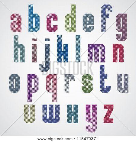 Halftone Print Dots Textured Font.