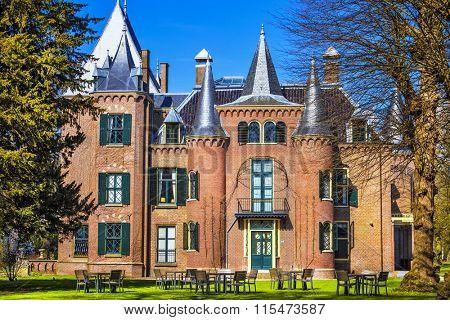 beautiful Keukenhof castle in Lisse, Holland
