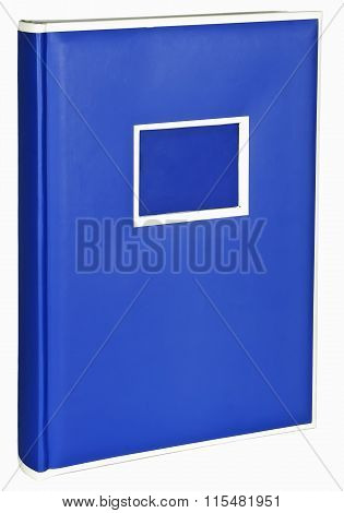 The color blue photo album on wite backround