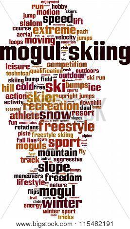 Mogul Skiing Word Cloud