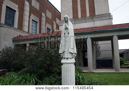 Sculpture of the Virgin Mary