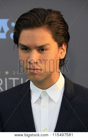 LOS ANGELES - JAN 17:  Forrest Goodluck at the 21st Annual Critics Choice Awards at the Barker Hanger on January 17, 2016 in Santa Monica, CA