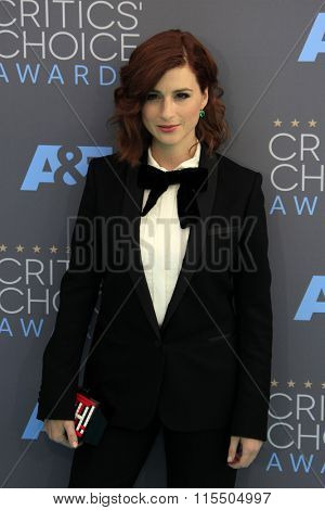 LOS ANGELES - JAN 17:  Aya Cash at the 21st Annual Critics Choice Awards at the Barker Hanger on January 17, 2016 in Santa Monica, CA