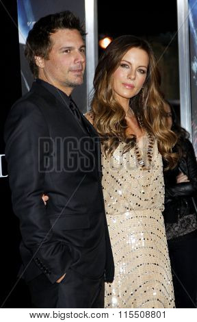 Len Wiseman and Kate Beckinsale at the Los Angeles Premiere of