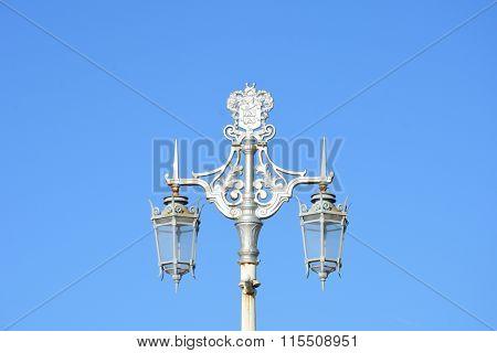 Ornate street lamps brighton