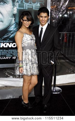 Fivel Stewart and BooBoo Stewart at the Los Angeles Premiere of