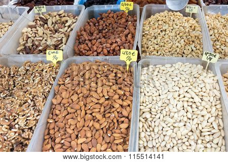Trays of nuts