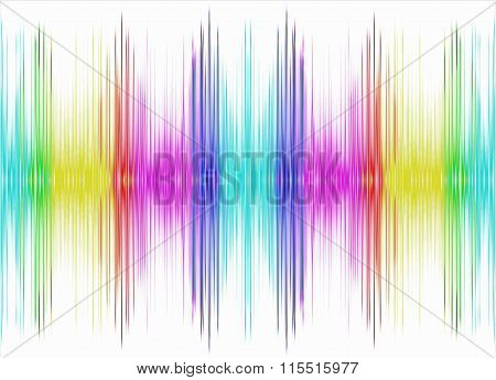 Abstract Multicolored Equalizer On White Background.