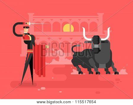 Bullfighting charcter man