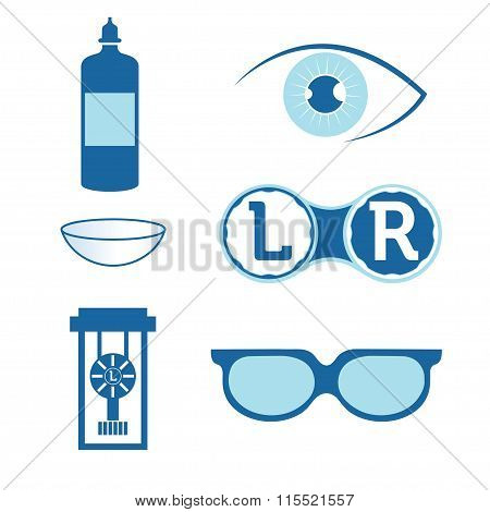 Eye Contact Lenses Elements And Glasses