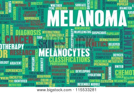 Melanoma as a Skin Cancer Condition and Treatment poster