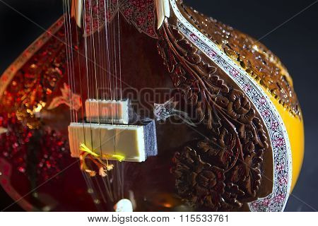 Sitar, A String Traditional Indian Musical Instrument
