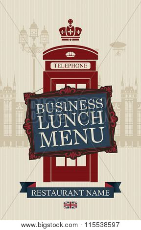 Menu For Business Lunches