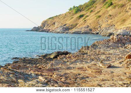 Mountain Stone And Sea