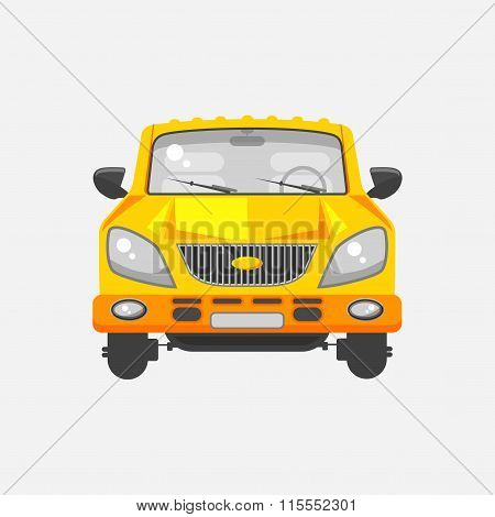 Minivan car front view
