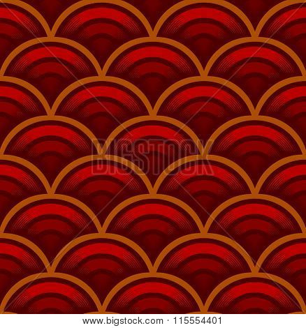 Seigaiha wave seamless pattern. Traditional Chinese and Japanese ancient ornament. Vector illustration.