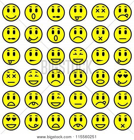 Set of Emoticons. Set of Emoji