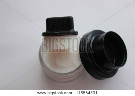 Shoe polish and shoe brusher, sponges for painters poster