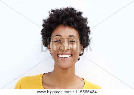 Closeup Of A Smiling Young Black Woman